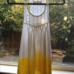 Free People racer back tunic size M
